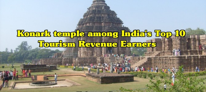 Konark Sun Temple is in top Ten monuments of India that earn most travellers