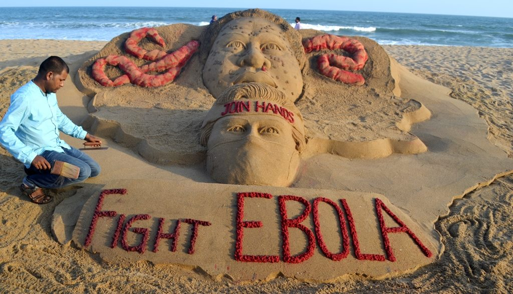 Fight Ebola virus sandart