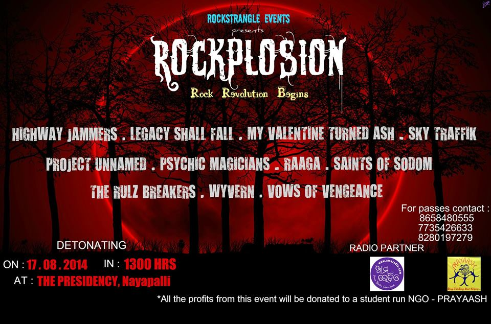 ROCKPLOSION – upcoming major rock concert Bhubaneswar