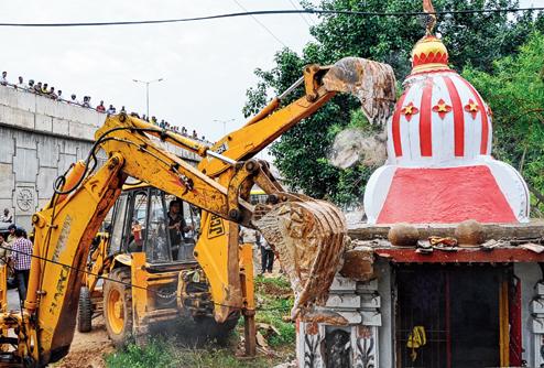 JAyadev vihar road demolition