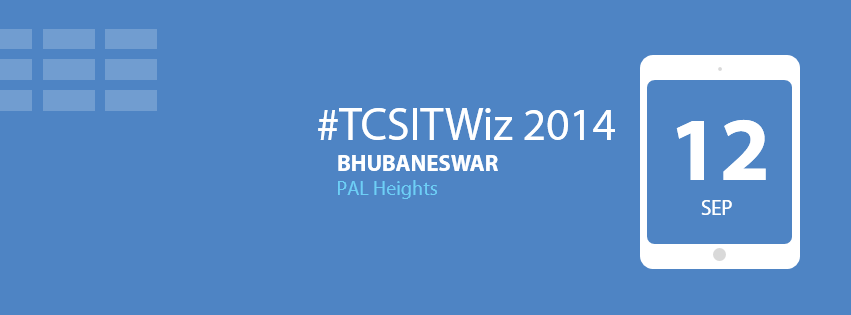 TCS IT wiz bhubaneswar sept 12