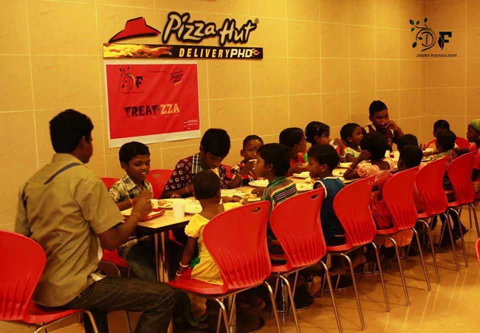Treat azza for pizza for children