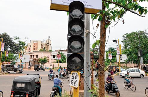 ram mandir sqaure traffic signal