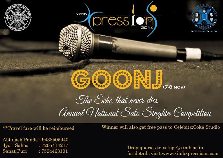 goonj ximb solo singing