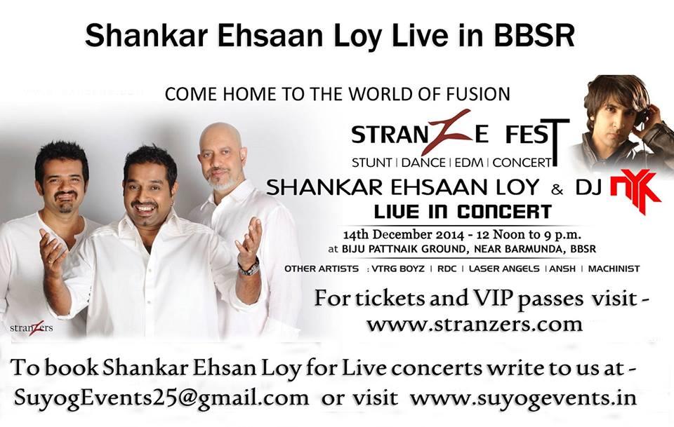 shankar ehsaan loy live