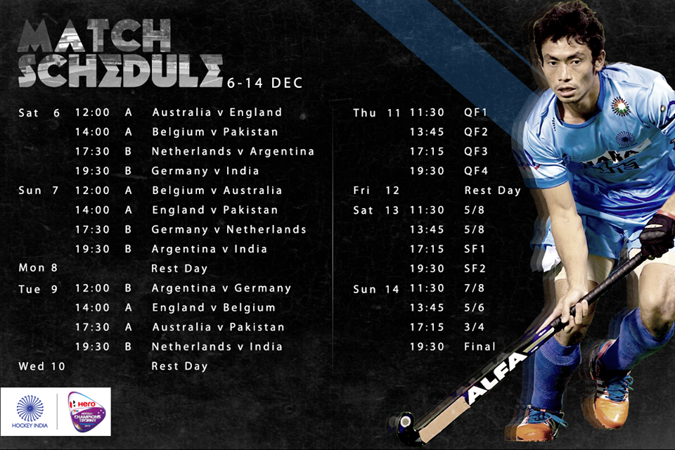 champions trophy schedule