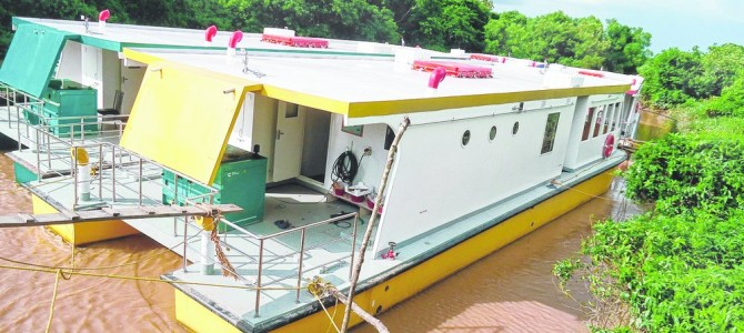 Now get a view of Bhitarkanika national park in luxury cruise boats