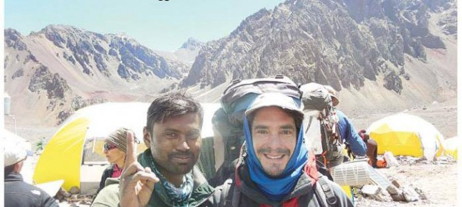 Jogabyasa Bhoi from Odisha conquers South America's highest peak Mt. Aconcagua