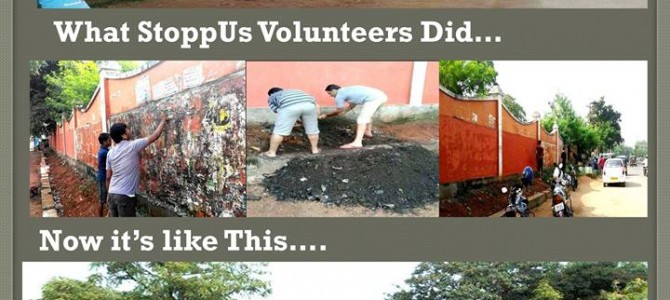 Volunteers from Stopp US community doing awesome work in cleaning Bhubaneswar
