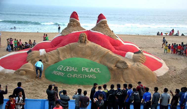sudarshan christmas sandart odisha