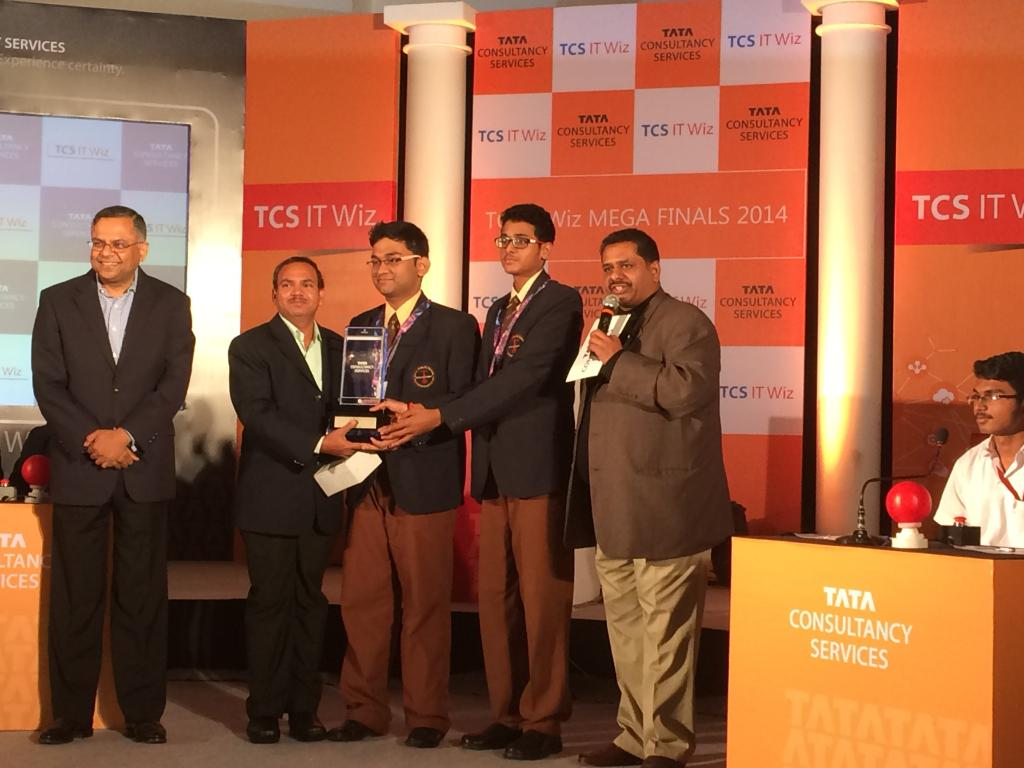 tcs IT wiz bhubaneswar runner up