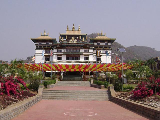 tibetan monstry near taptapani
