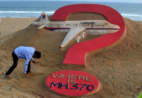 MH370 sandart in puri beach