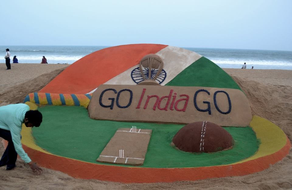 sudarshan pattnaik sandart for world cup