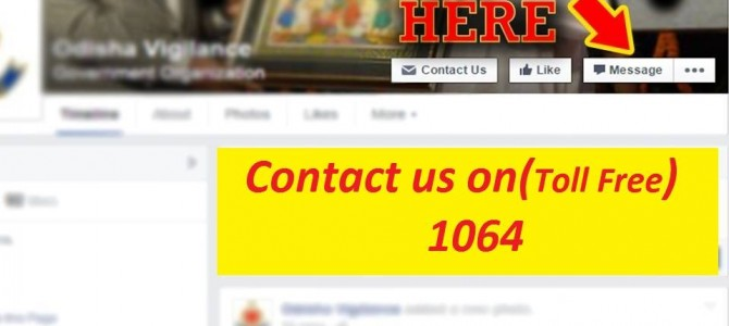 Odisha Govt launches Anti Corruption Helpline and Facebook page for complaints