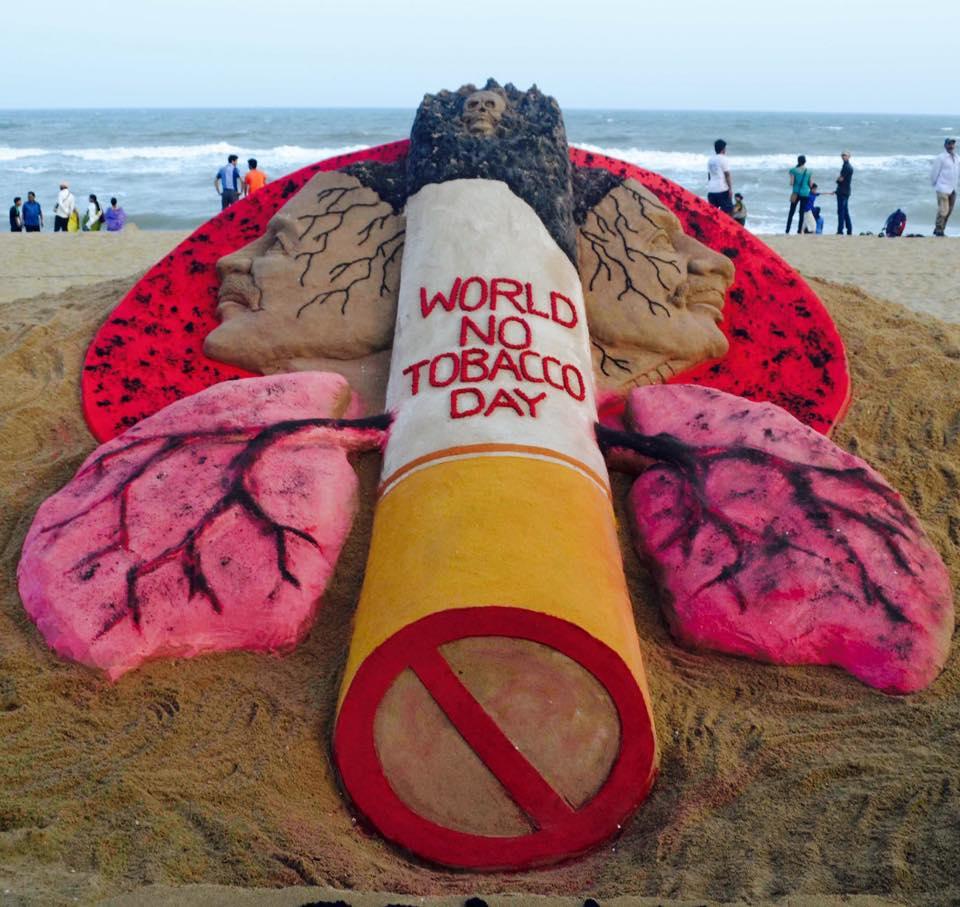 sandart on world no tobacco day