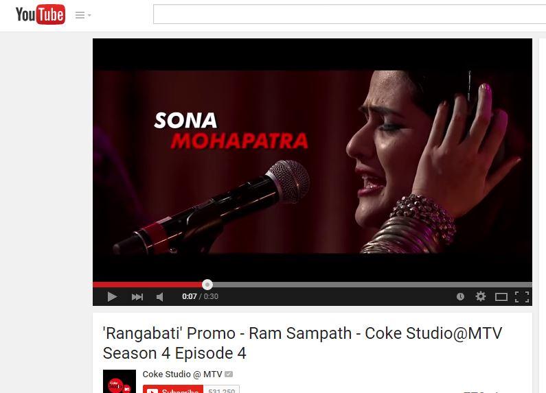 Sona Mohapatra And Rituraj Bring Odia Song Rangabati To Coke Studio Just Awesome Bhubaneswar Buzz