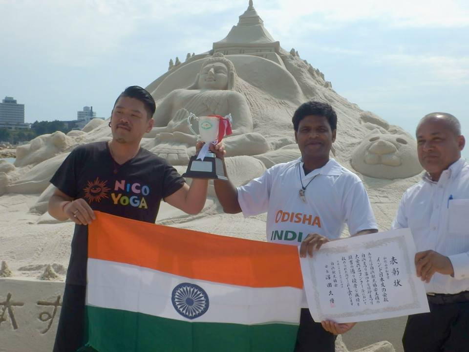 sudam pradhan wins sandart in japan