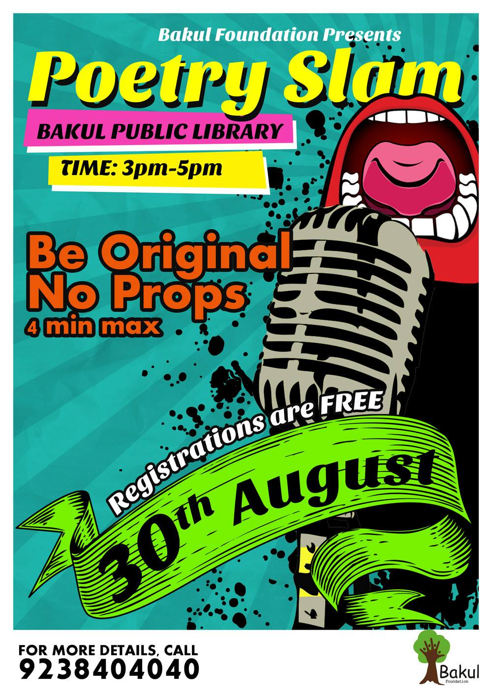 bakul foundation poetry slam