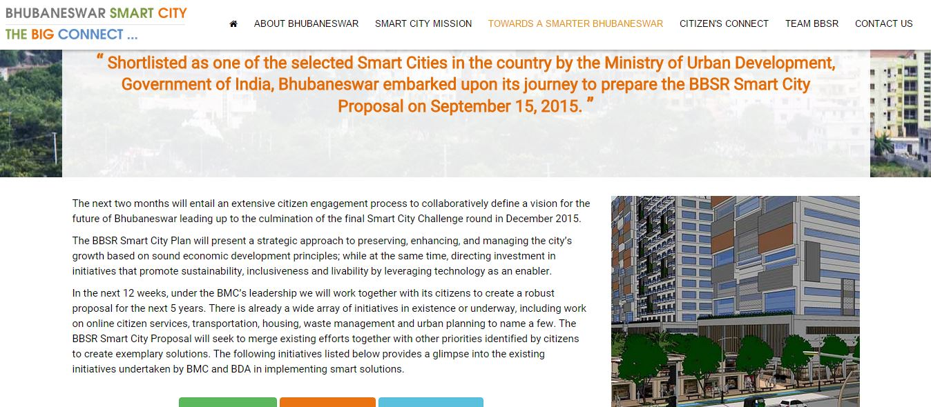 Smart city bhubaneswar website launched