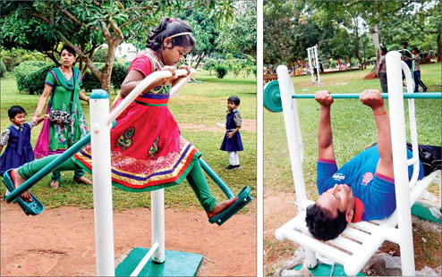 bhubaneswar open air gymnasiums parks