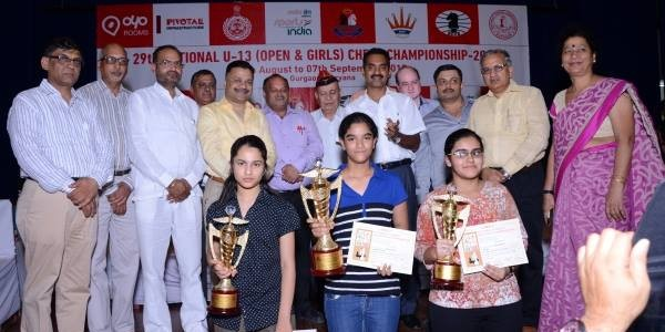 Odisha girl Anwesha wins Silver in National U-13 Chess Championship in Gurgaon