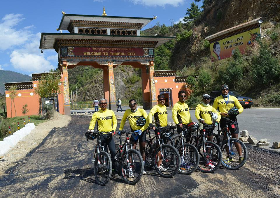 bhubaneswa to bhutan cycling end