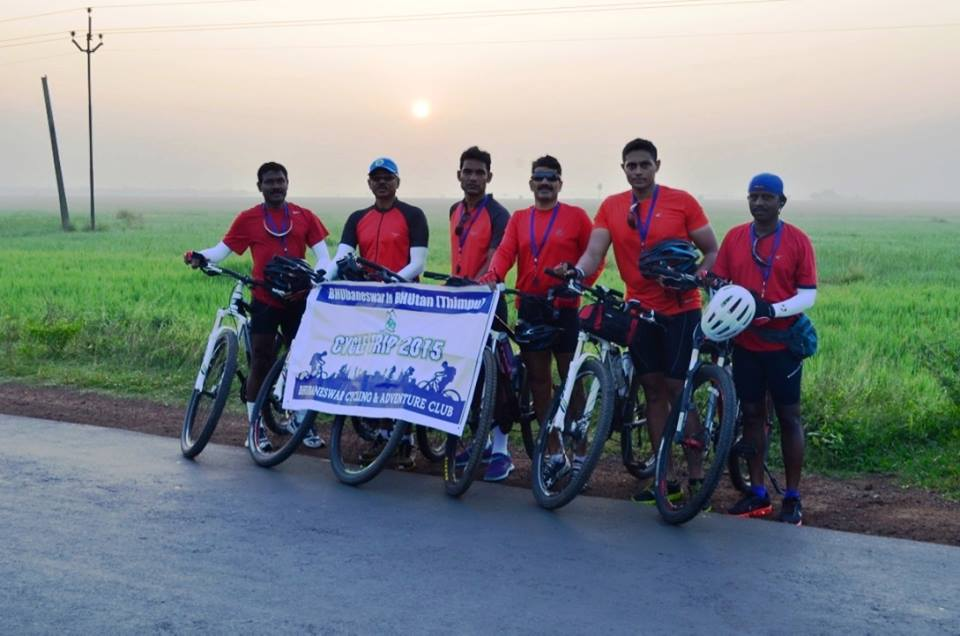 bhubaneswar to bhutan cycling rally day 4 bbsrbuzz