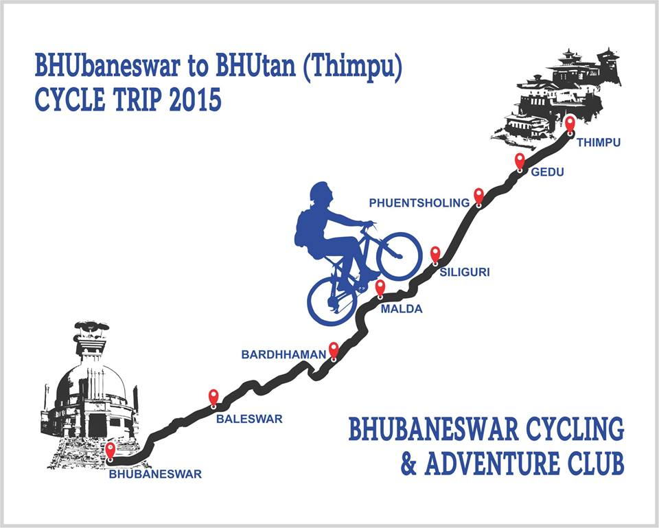 bhubaneswar to bhutan cycling trip