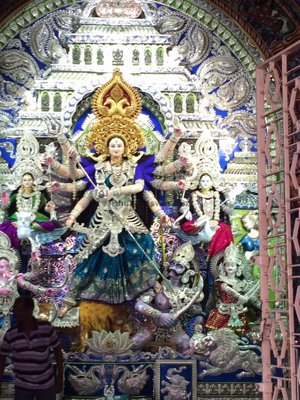 9 Awesome Silver Filigree Aka Chandi Medha Durga Puja