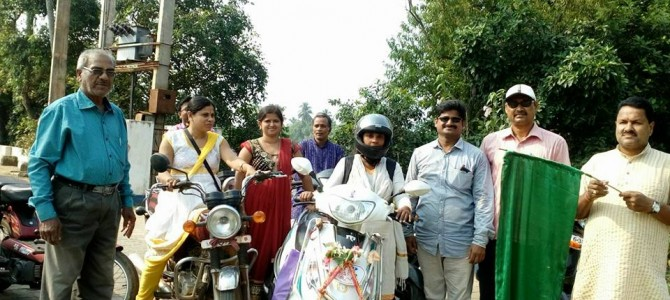 Respect for Rishika Sahoo of Odisha on a scooty ride all over India for female feticide