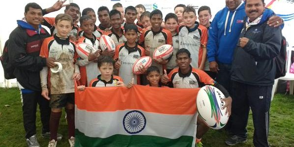 Rugby team from Bhubaneswar KISS representing India wins against 3 nations in London