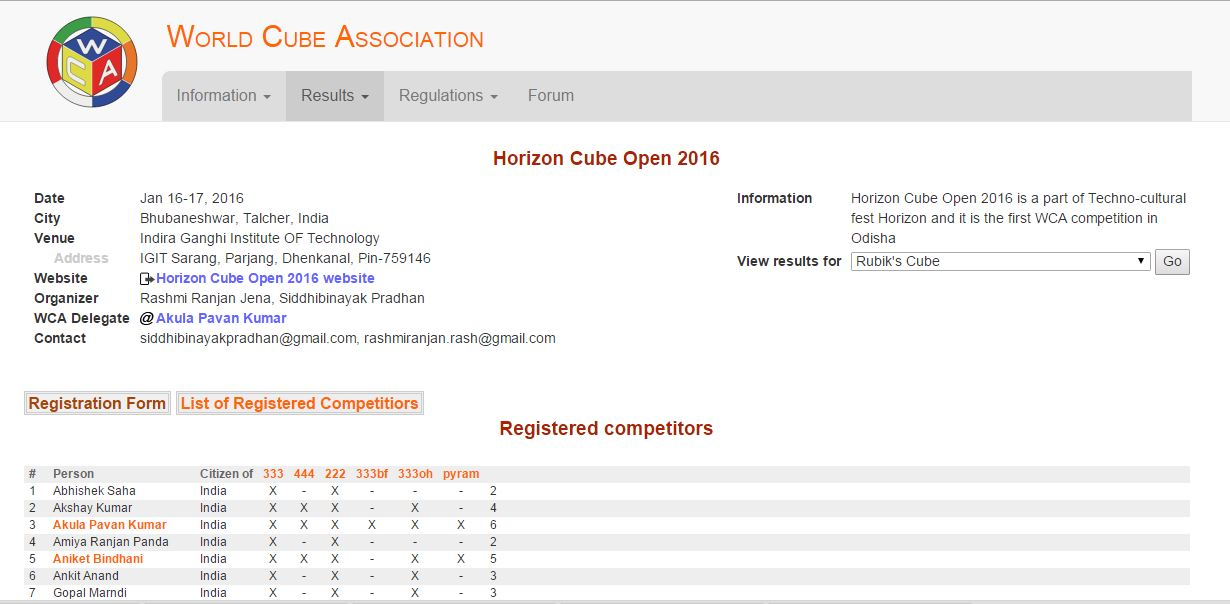 world cube association sarang 2