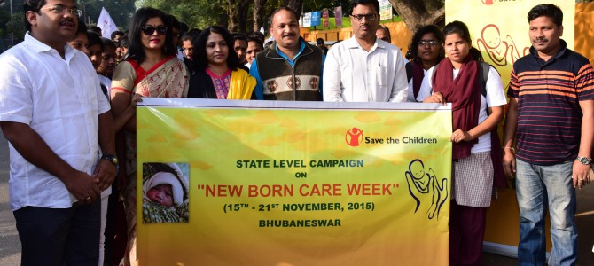 Save The Children organizes Mini Walkathon to mark the culmination of New Born Care Week 2015