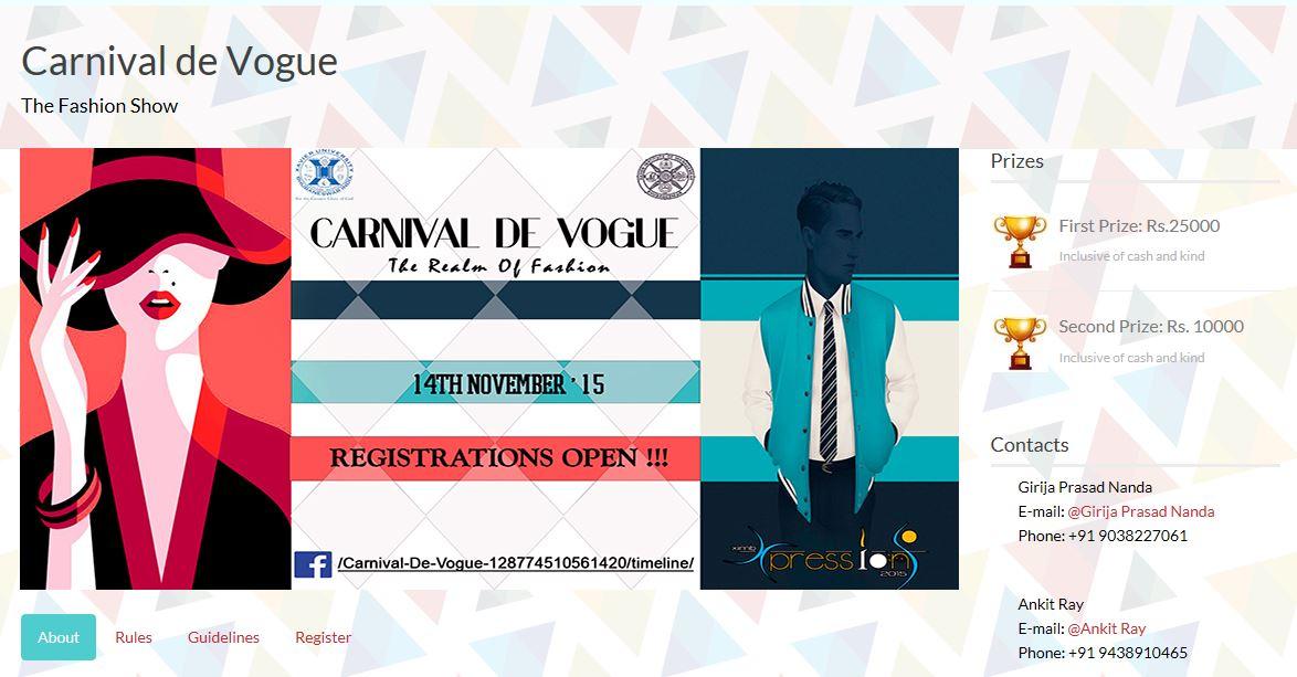 XIMB fashion show carnival bhubaneswar buzz 2015