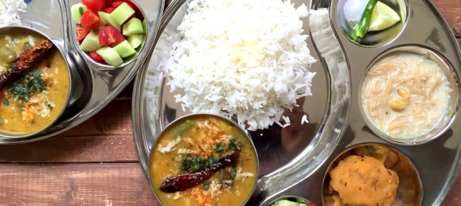 Dalma & the typical Odia thali : A divine affair : by The Turmeric Kitchen Blog