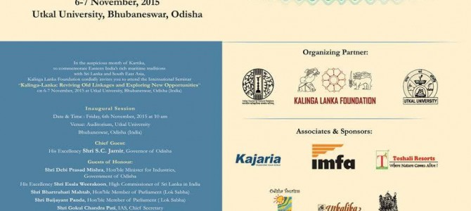 International Seminar on Kalinga Lanka relationship starts today in Utkal University