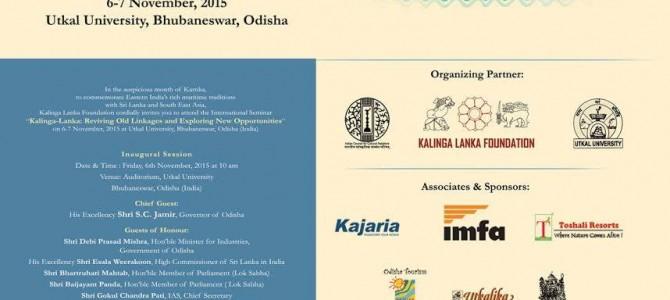 International Seminar on Kalinga Lanka relationship starts today in Utkal University