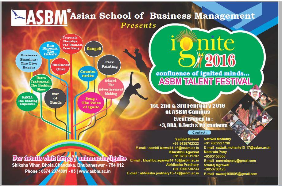 ASBM ignite festival bhubaneswar buzz