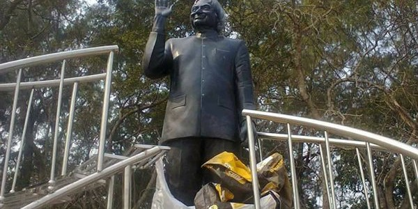 Former President APJ Abdul Kalam's Black Stone Statue Unveiled In Chandipur Beach Odisha