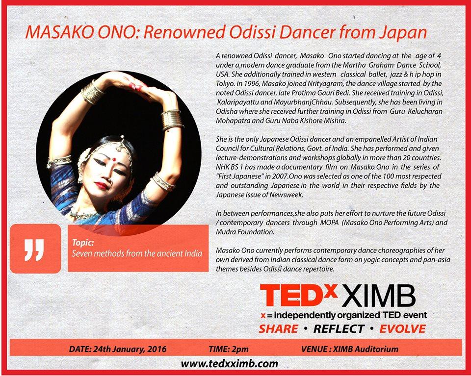 masako ono TEDx XIMB