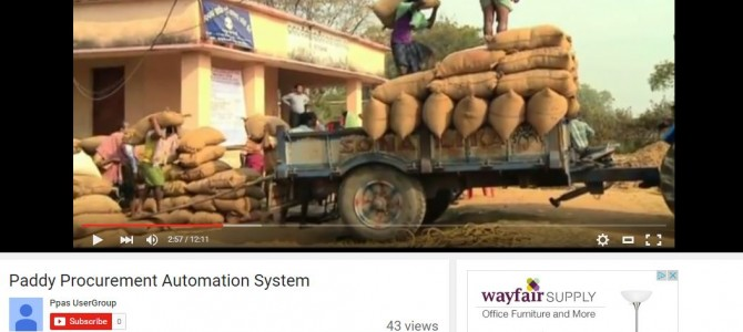 Paddy Procurement Automation System of Odisha wins National e-governance award in Nagpur