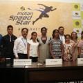 PT Usha and the organisers with the kids at New Delhi