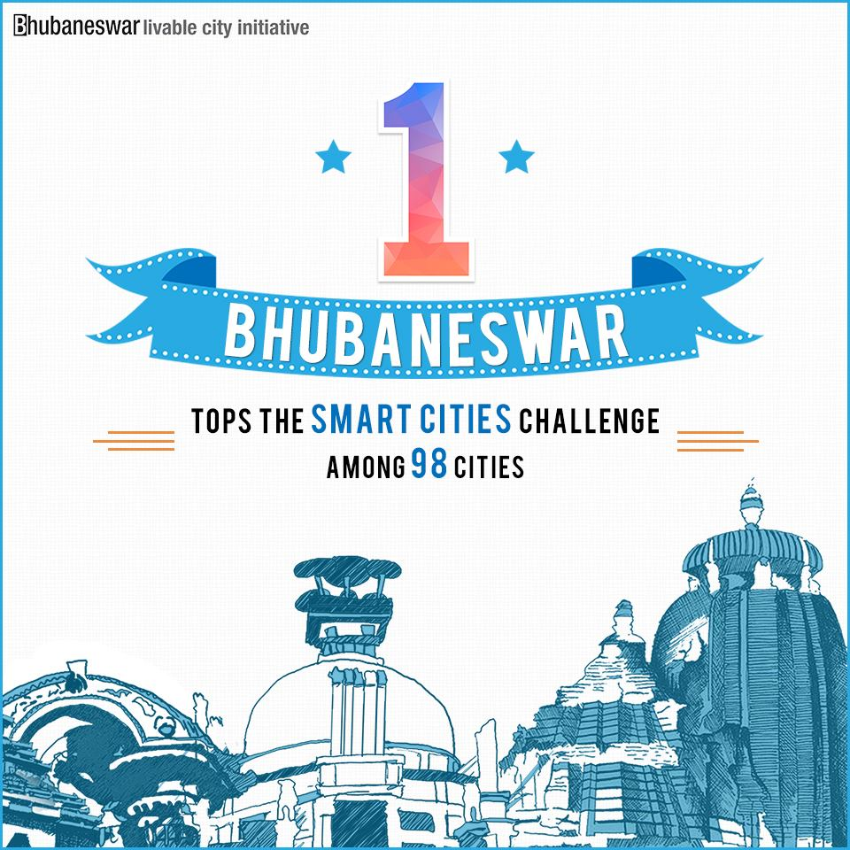 bhubaneswar tops smart city