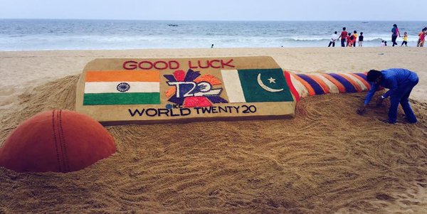 sandart on world t20 india pak