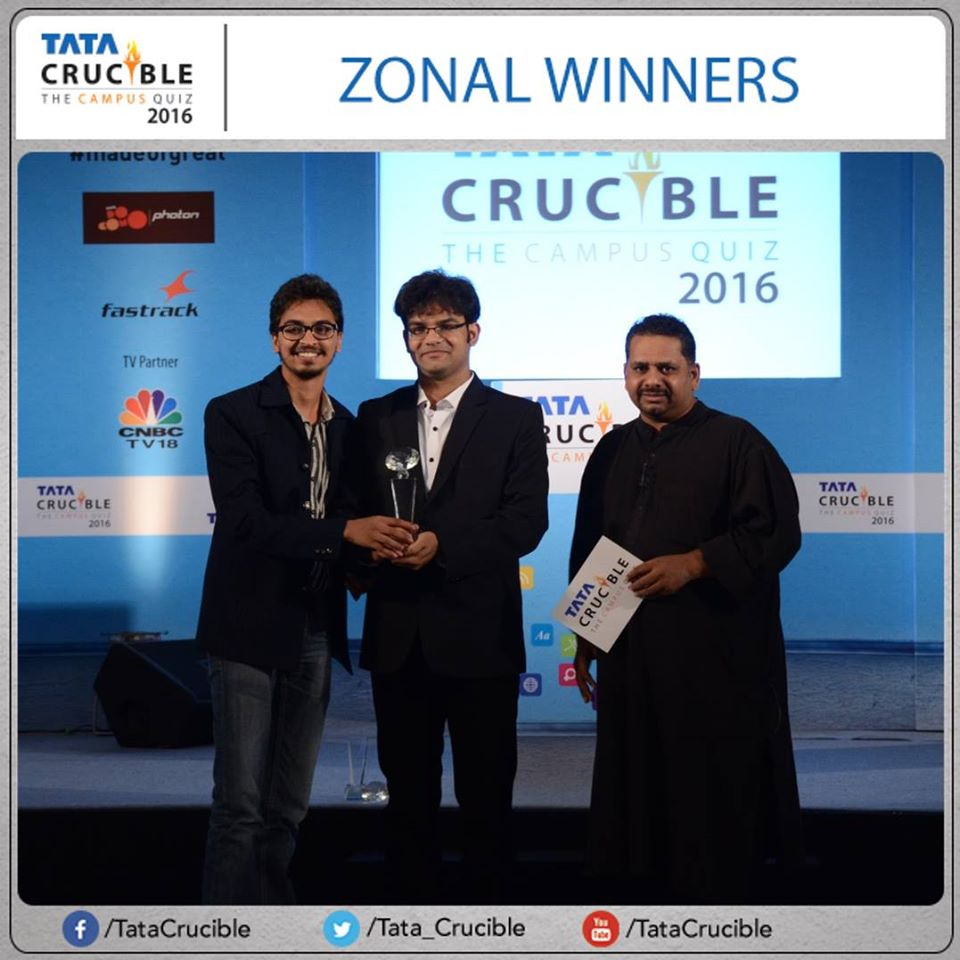 NIT rourkela wins Tata Crucible east zone 2016