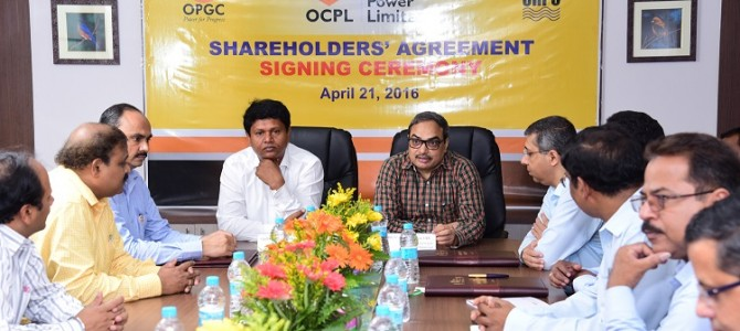 OPGC, OHPC and OCPL sign Shareholder's Agreement for Odisha Coal and Power Limited (OCPL)