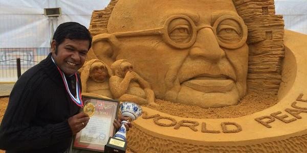 Sudarsan Pattnaik wins Gold in Sandart Championship Moscow