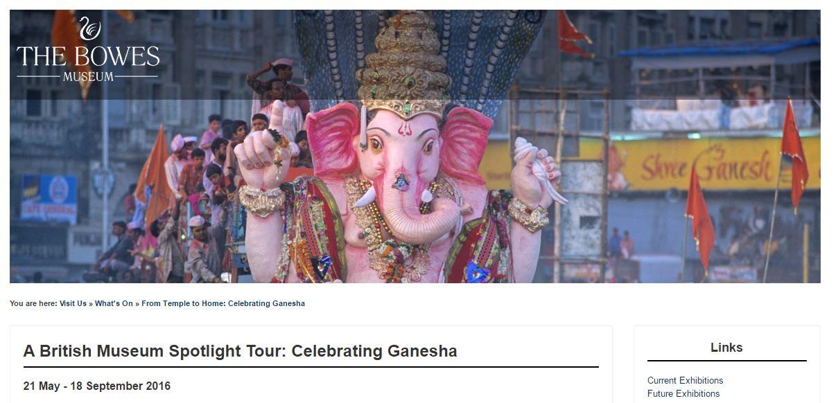 Bowes museum Ganesh idol from odisha