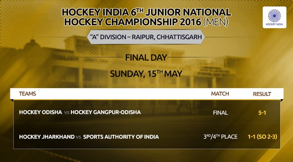 Hockey odisha wins against hockey odisha